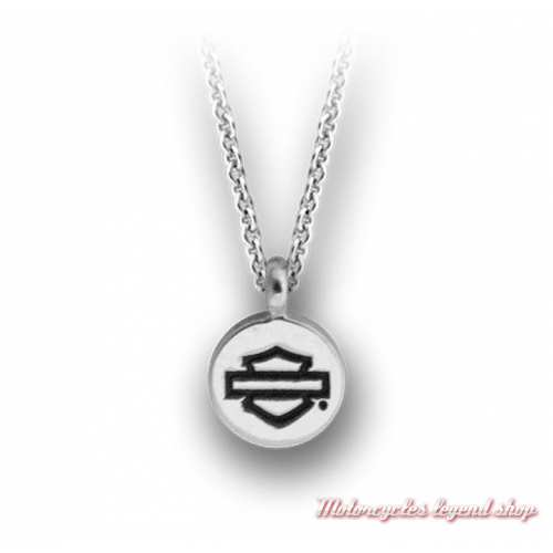 Collier argent Bar & Shield Harley-Davidson femme