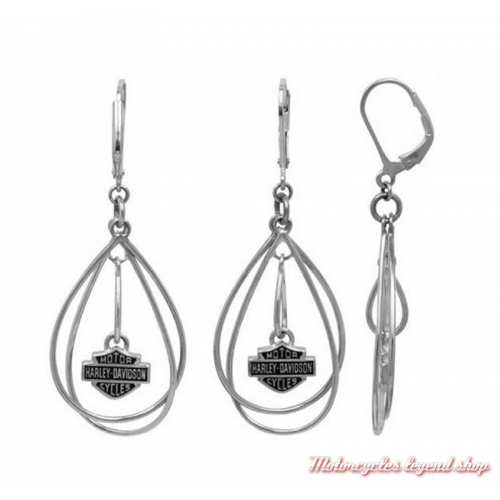 Boucles d'oreilles Twisted Bar & Shield Harley-Davidson femme