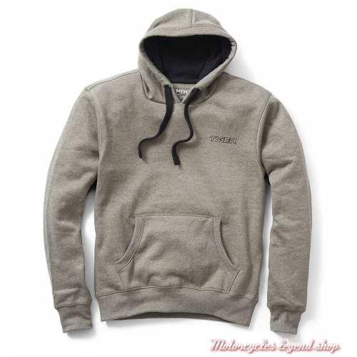 Sweatshirt Malcom Triumph homme Tiger, à capuchen beige, coton, MSWS19200