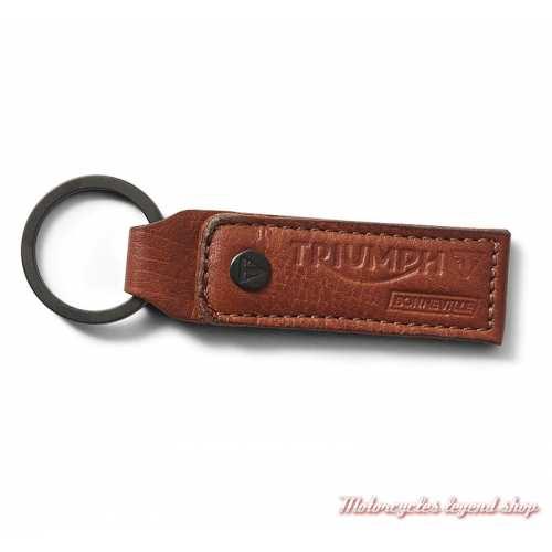 Porte clés cuir Mustard Triumph Bonneville, marron clair, MKRS19303