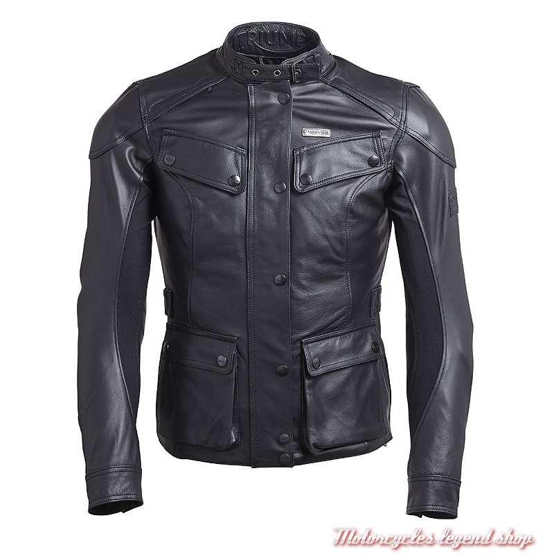 Blouson cuir Beaufort 2 Triumph femme, noir, MLLA18103
