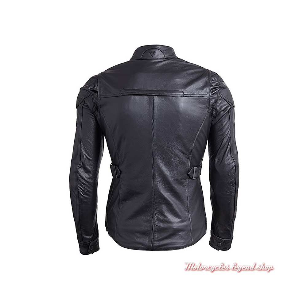 Blouson cuir Beaufort 2 Triumph femme, noir, dos, MLLA18103
