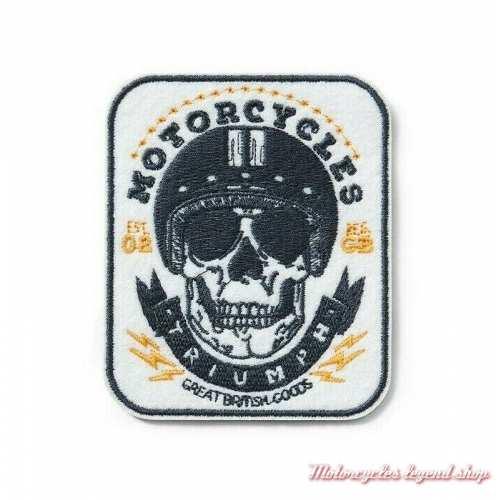 Patch Skull Triumph, brodé, à coudre, MPAS19318