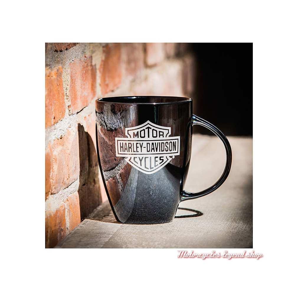 Mug Lustre Shiny Harley-Davidson, noir brillant, 54 cl, visuel, 3BLM4900