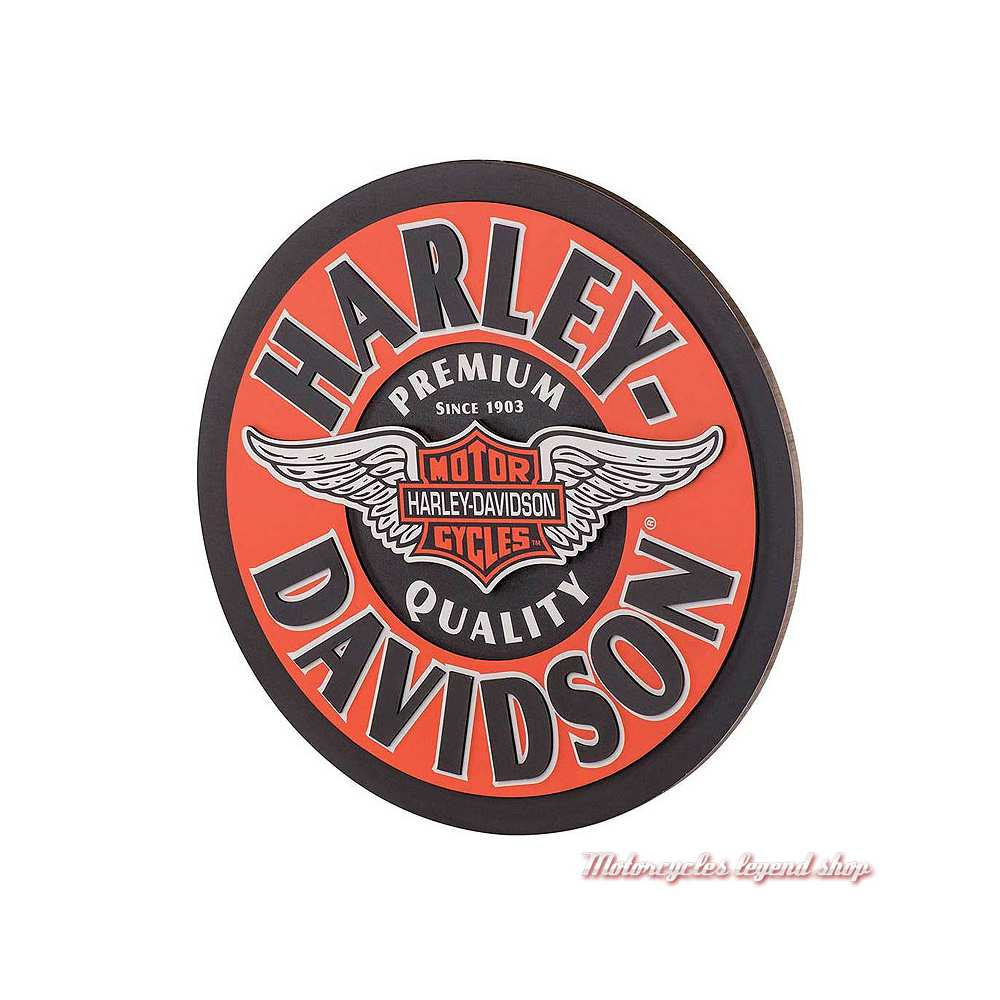 Panneau publicitaire Winged Bar & Shield Harley-Davidson HDL-15320