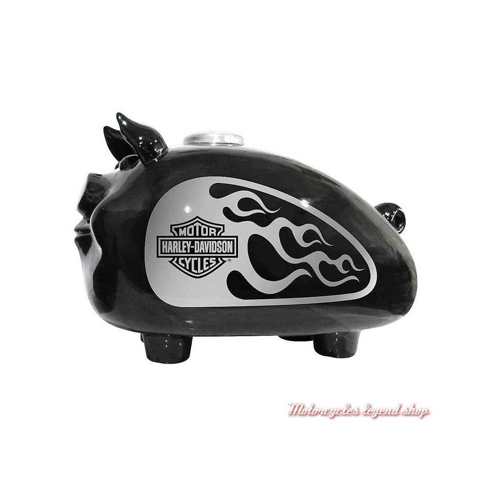 Tirelire HOG Flames Harley-Davidson, noir argent, 28 X 17 cm, HDX-99138