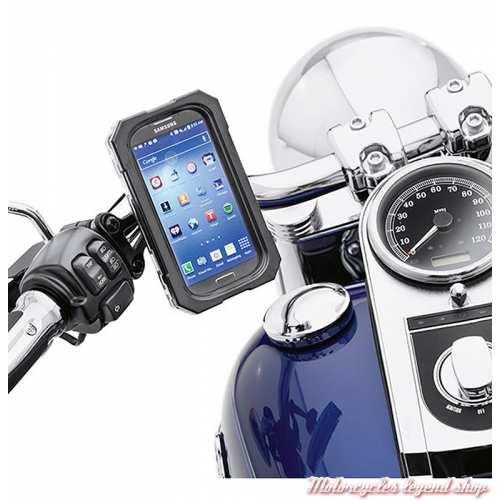 Support étanche porte telephone de guidon Harley-Davidson Samsung Galaxy, 76000605