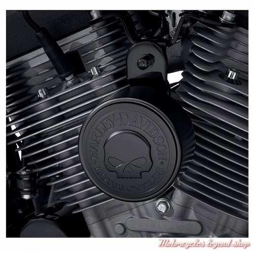 Cache Avertisseur Skull Harley-Davidson, noir, visuel, 61301045