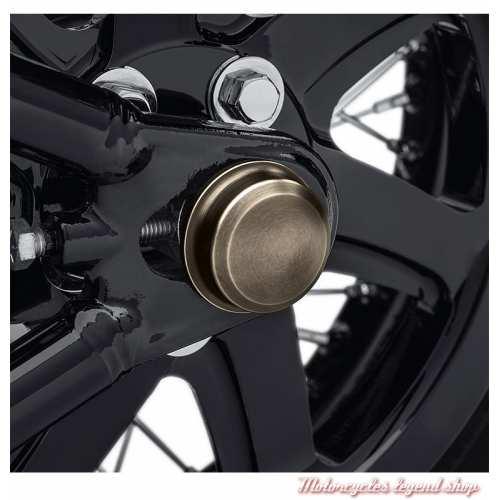 Caches écrous axes de roue arrière Brass Harley-Davidson, laiton, visuel, 43000050
