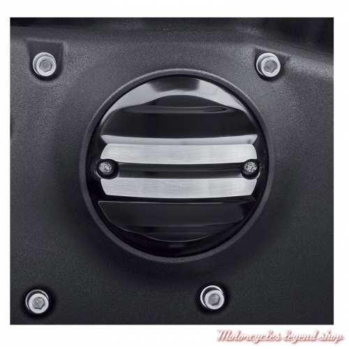 Cache carter de distribution Rail Harley-Davidson, noir, chrome, visuel, 25600060