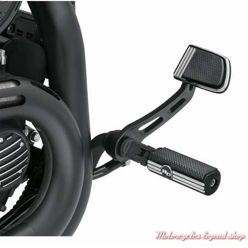 Repose-pieds Defiance Harley-Davidson, noir, alu, visuel, 50500540
