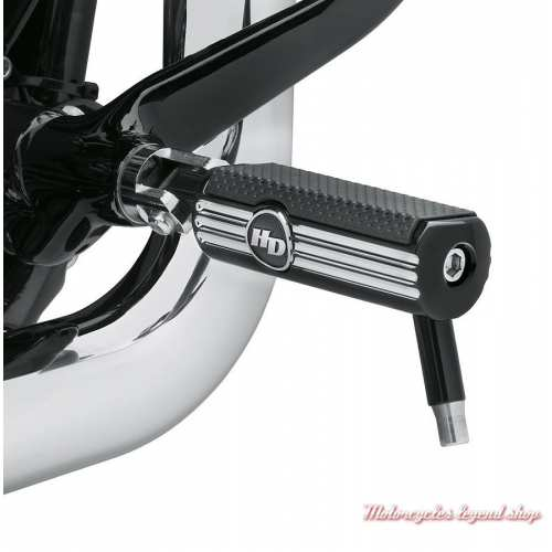 Repose-pieds Defiance Harley-Davidson, noir, alu, anti-usure, visuel, 50500536
