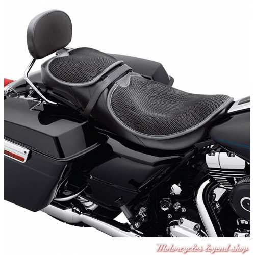 Coussin de selle Circulator Harley-Davidson, taille Large, respirant, noir, Harley-Davidson, visuel, 51076-10