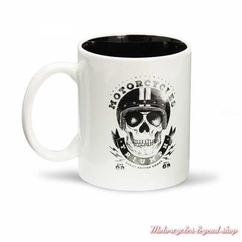 Mug Skull Triumph, céramique, blanc et noir, 25 cl, MMUS19333