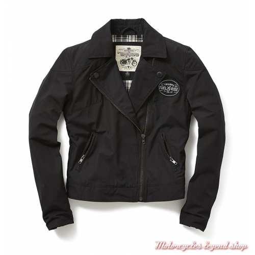Veste Mila Triumph femme, noir, style perfecto, polyester, coton, MLTS19208