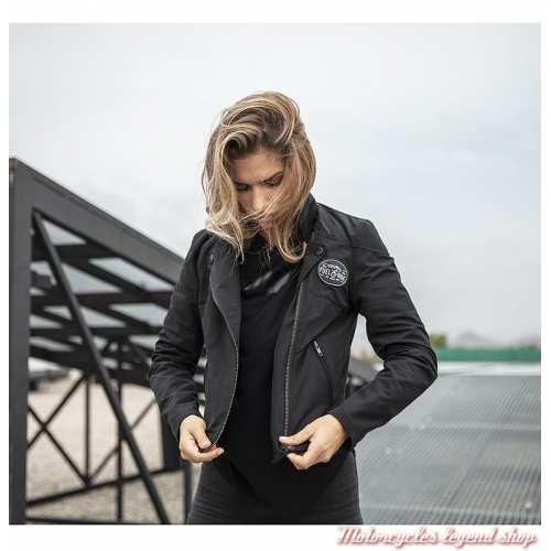 Veste Mila Triumph femme, noir, style perfecto, polyester, coton, visuel, MLTS19208