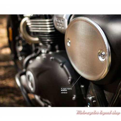 Plaque porte numéro pour Street Scrambler Triumph, alu, visuel, A9708431