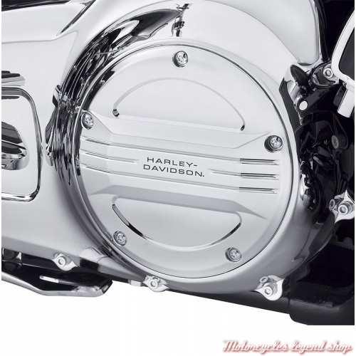 Trappe d'embrayage Airflow Harley-Davidson, chrome miroir, 25700505