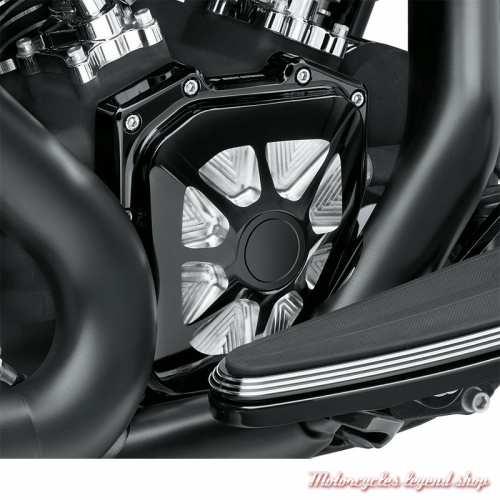 Cache carter de distribution Burst Harley-Davidson, noir, alu, visuel, 25700249
