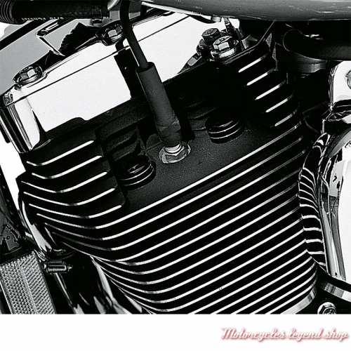 Cache-boulons de culasse Harley-Davidson, noirs, visuel, 43896-99