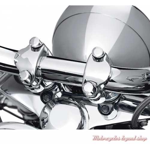 Cache vis de bride de guidon Harley-Davidson, chromé, visuel, 94413-04