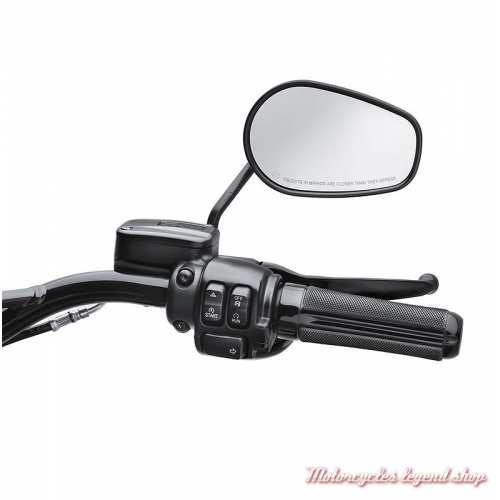 Poignées Airflow Harley-Davidson, noir brillant, visuel, 56100218