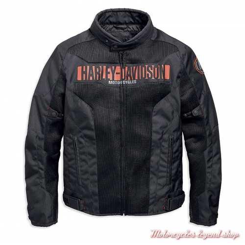 Blouson été textile Nemahbin Harley-Davidson homme, mesh, noir, 97152-19EM