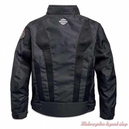Blouson été textile Nemahbin Harley-Davidson homme, mesh, noir, dos, 97152-19EM