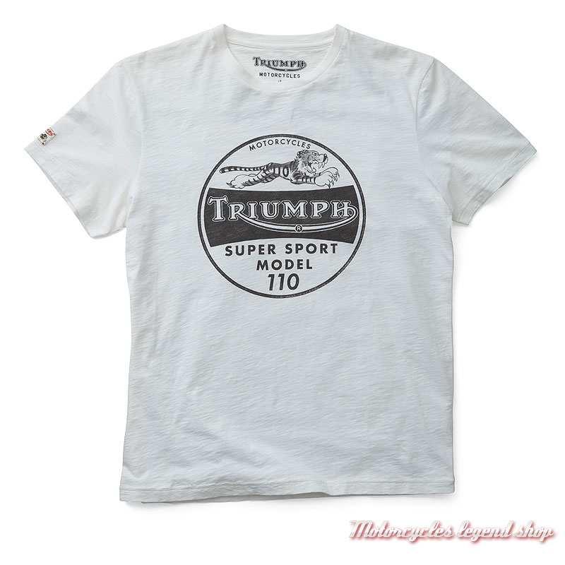 Tee-shirt Ernie Triumph Tiger homme, blanc, manches courtes, MTSS19E08