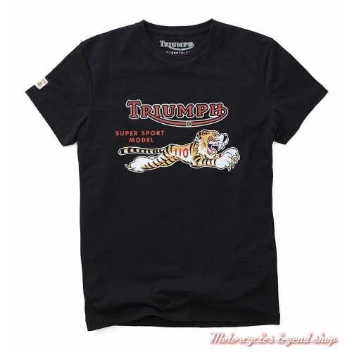 Tee-shirt Trophy Triumph Tiger homme, noir, manches courtes, MTSS19E48