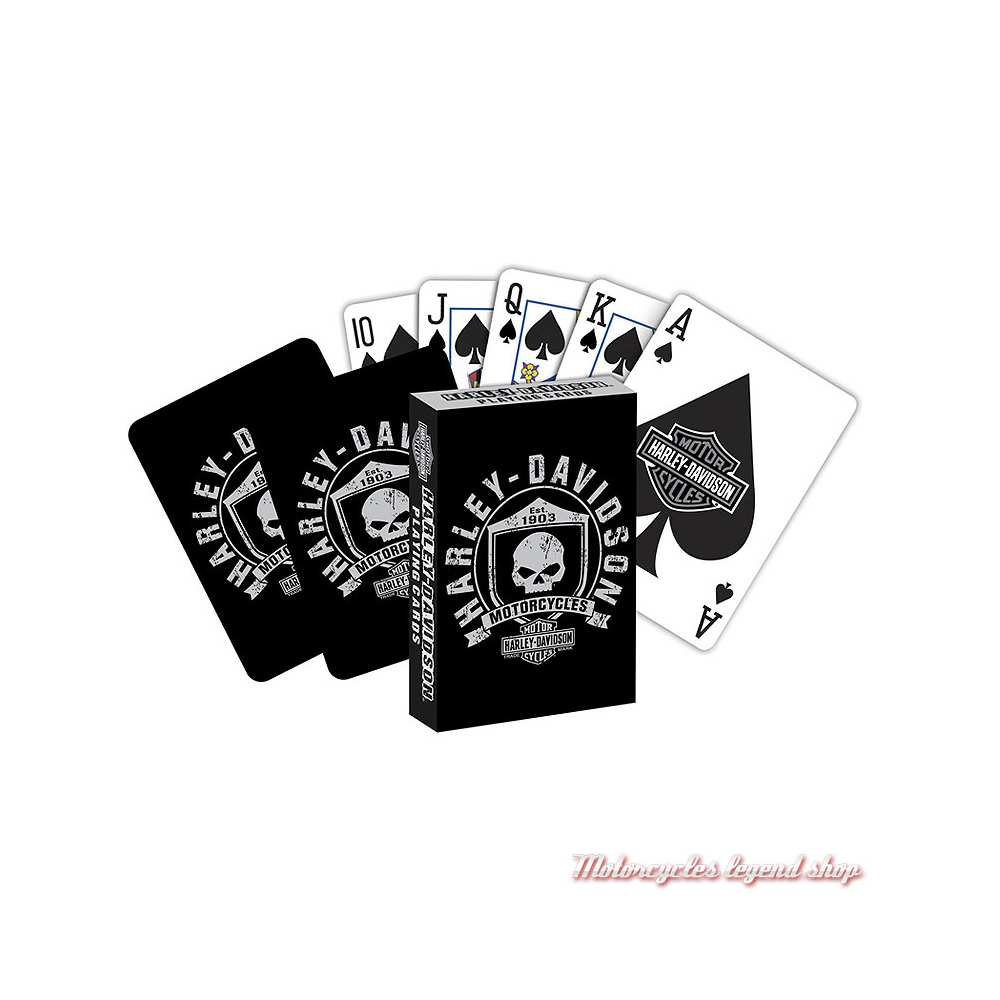 Jeu de 54 cartes Skull Harley-Davidson, 625