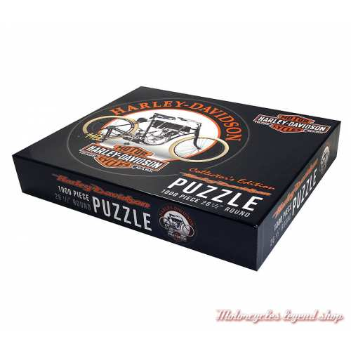 Puzzle Motorcycle Harley-Davidson, 1000 pièces, circulaire, boite, 6044
