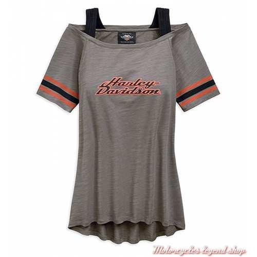 Tee-shirt Striped Harley-Davidson femme