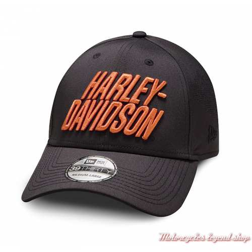 Casquette Laser Perf 39 Thirty Harley-Davidson homme, noir, polyester, extensible, 97856-19VM