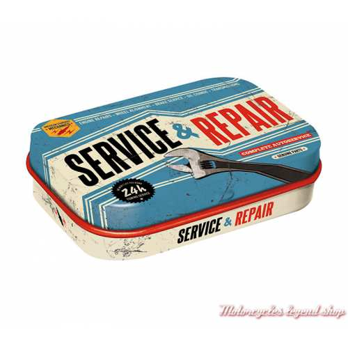 Boite de pastilles mentholées Service & Repair, vintage, 81293