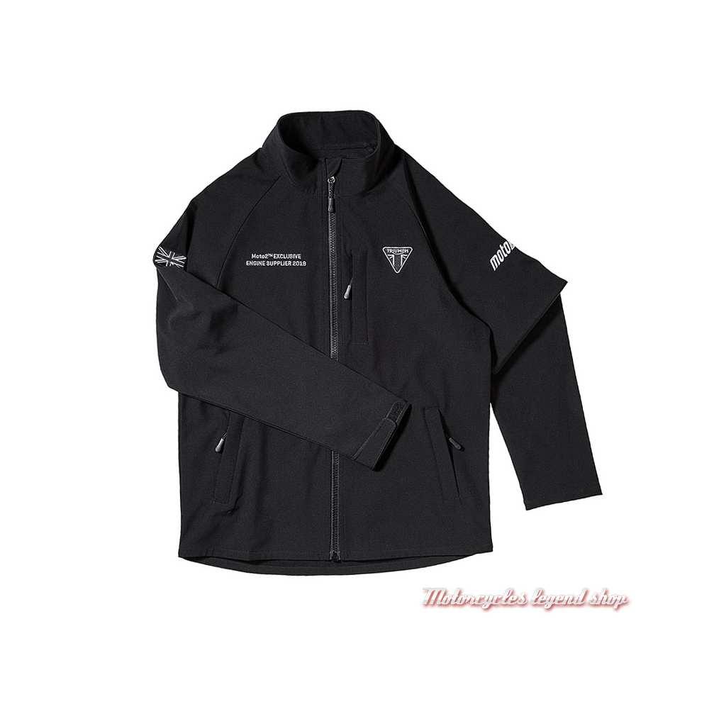 Veste coupe vent Soft shell Moto2 Triumph homme, noir, MSWS19502