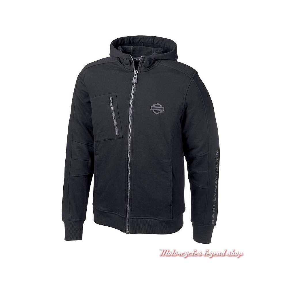 Sweatshirt Logo Harley-Davidson homme, noir, à capuche, H-D Moto, 96874-19VM