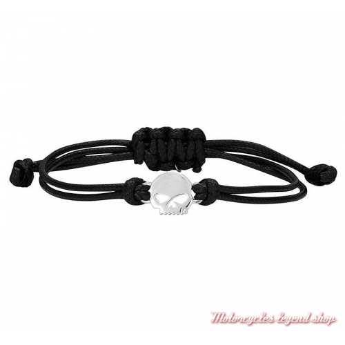 Bracelet cordon Skull Harley-Davidson femme