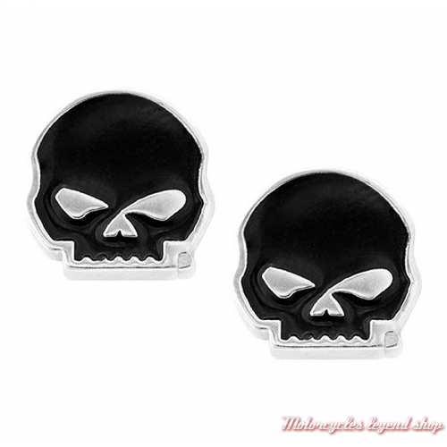 Boucles d'oreilles Skull Willie G. Harley-Davidson
