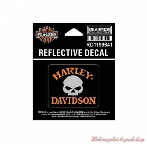 Petit sticker Skull réfléchissant Harley-Davidson, RD1199641
