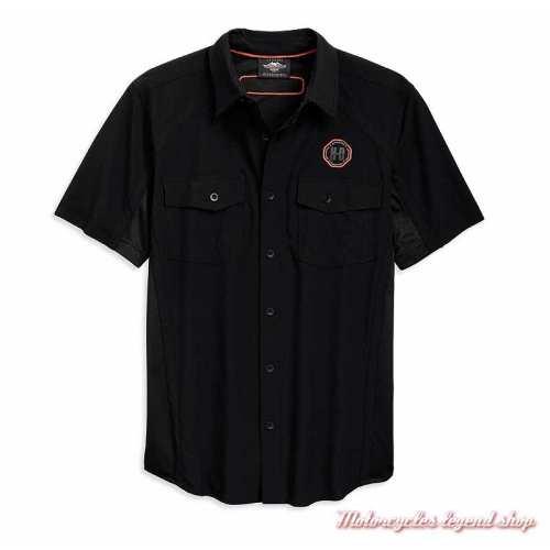 Chemisette Performance Harley-Davidson homme, noir, polyester, ripstop, 96762-19VM