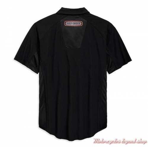 Chemisette Performance Harley-Davidson homme, noir, polyester, ripstop, dos, 96762-19VM