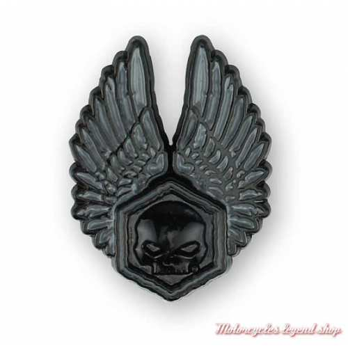 Pin's Forged Wings Harley-Davidson, noir, skull, P325302