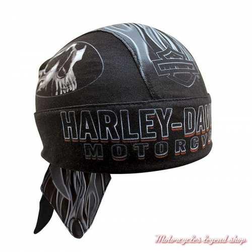 Zandana Engulfed Harley-Davidson, skull, polyester, noir, HW15290