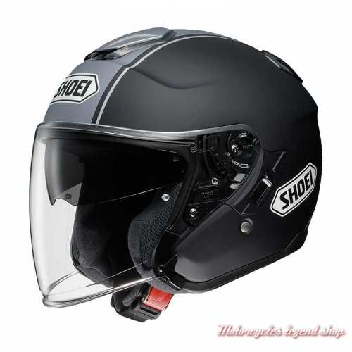 Casque J Cruise Corso TC10 Shoei, noir mat, gris mat