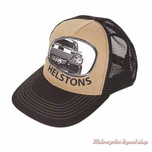 Casquette Retro Helstons, noir, beige, muscle car