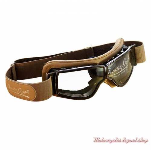 "Lunettes ""Aviator Goggle"" Leon Jeantet, T2 sable, oculaire incolore,"