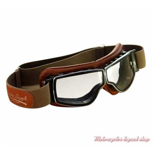 "Lunettes ""Aviator Goggle"" T2 camel, oculaire incolore"