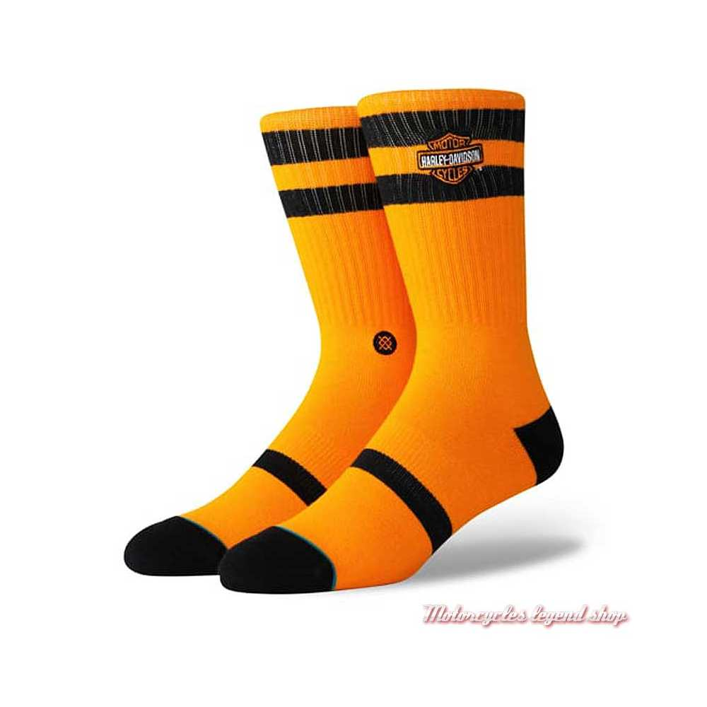 Chaussettes Ride One Harley-Davidson, unisexe, orange, noir, U556C19HAO/OR