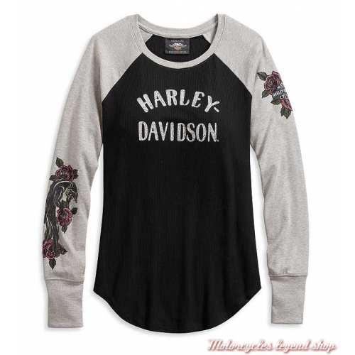 Tee-shirt Roses Harley-Davidson femme